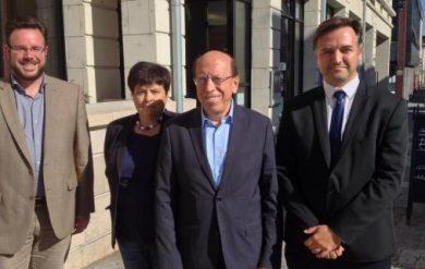 Raffarin avec le Modem en soutien à Alain Juppé à Amiens le 15 octobre